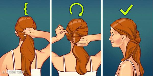 Kiểu tóc buộc đuôi ngựa xoắn